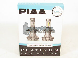 Piaa 9007 Hb5 Platinum Led Headlight Light Bulbs Twin Pack Brilliant White 6000k