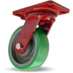 Hamilton 6 Inch Diameter X 2 Inch Wide Swivel Caster With Top Plate Mount 7