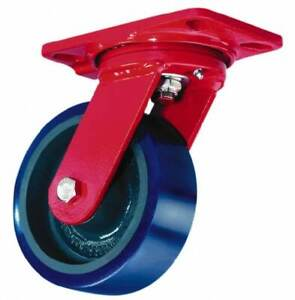 Hamilton 6 Inch Diameter X 3 Inch Wide Swivel Caster With Top Plate Mount 8