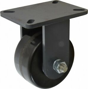 Hamilton 6 Inch Diameter X 3 Inch Wide Rigid Caster With Top Plate Mount 8 I