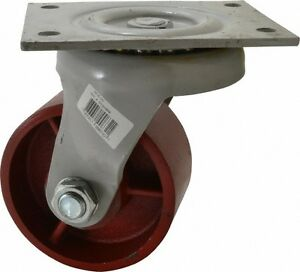 Fairbanks 5 Inch Diameter X 2 1 2 Inch Wide Swivel Caster With Top Plate Mou