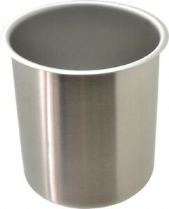 Vollrath Round Chrome Stainless Steel Food Storage Container 7 3 High X 6 1