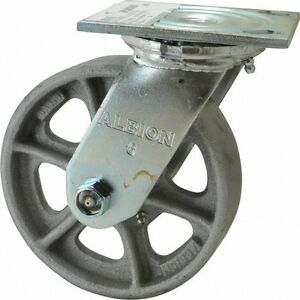 Albion 6 Inch Diameter X 1 1 2 Inch Wide Swivel Caster With Top Plate Mount