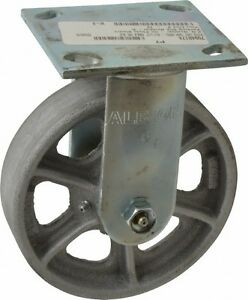 Albion 6 Inch Diameter X 1 1 2 Inch Wide Rigid Caster With Top Plate Mount 7