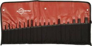 Mayhew 19 Piece Center Pin Solid Punch Cold Chisel Set 1 8 To 3 4 Chise