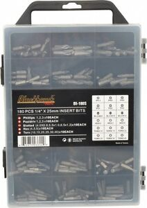 Blackhawk By Proto 180 Piece Insert Screwdriver Bit Set T10 To T40 Torx