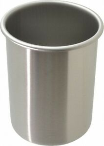 Vollrath Round Chrome Stainless Steel Food Storage Container 5 8 High X 4 1