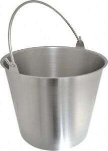 Vollrath 3 1 4 Gallon Tapered Cylinder Stainless Steel Pail 9 1 4 High X 30