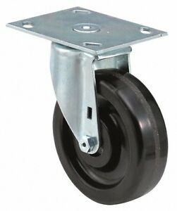 E r Wagner 6 Inch Diameter X 2 Inch Wide Swivel Caster With Top Plate Mount