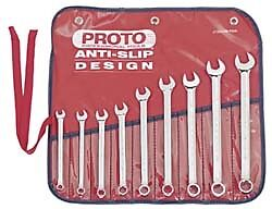 Proto 9 Piece 7 To 15mm 12 Point Combination Wrench Set Metric Measurement