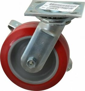 E r Wagner 6 Inch Diameter X 2 Inch Wide Swivel Caster With Brake And Top P