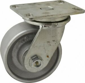 Albion 6 Inch Diameter X 2 1 2 Inch Wide Swivel Caster With Top Plate Mount