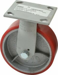Fairbanks 6 Inch Diameter X 2 Inch Wide Rigid Caster With Top Plate Mount 7