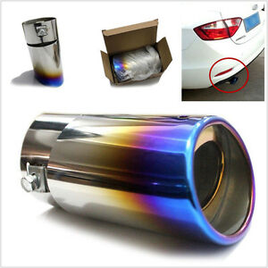 Colorful Car Suv Straight Stainless Steel Rear Tail Exhaust Pipe Tip Muffler Set