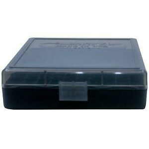 BERRY'S PLASTIC AMMO BOXES (1) SMOKE 100 Round 9MM  380 - FREE SHIPPING