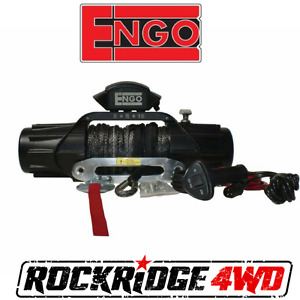 Engo Xr10s Electric 10k Synthetic Winch 3 8 X 85 Aluminum Hawse Fairlead