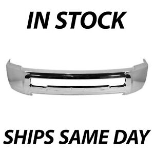 New Chrome Steel Front Bumper Face Bar For 2010 2018 Dodge Ram 2500 3500 Pickup