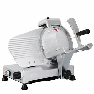 Electric Food Slicer Meat Commercial Steel Cheese Cut Restaurant Home 10 Blade
