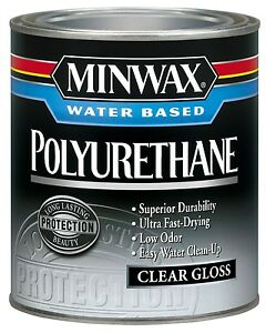 Minwax Water Based Gloss Polyurethane Water Based 1 Qt Pack 4