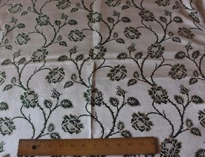 Antique French Lyon Silk Brocade Fabric Sample C1890 1900 Roses L 26 X W 25
