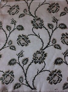 Antique French Lyon Silk Brocade Fabric Sample C1890 1900 Climbing Roses Homedec