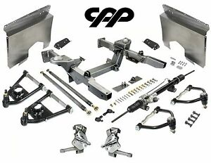 66 67 Chevy Nova Ifs Mustang 2 Front End Crossmember Component Kit Drop Spindle