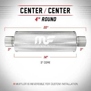 Magnaflow Exhaust Muffler 3 In Out 4 Round Free Shipping 14419
