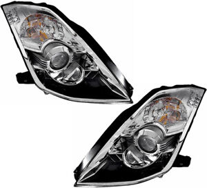Xenon Hid Headlights Assembly W bulb New Set Pair For 06 09 Nissan 350z