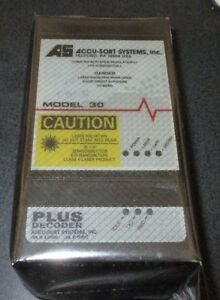 Accu sort Systems Inc Barcode Scanner Model 30 W Decoder Brand New Sealed