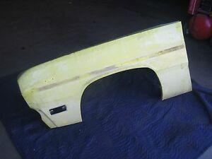 1970 1971 Plymouth Duster Dodge Demon Front Left Driver s Side Fender Very Nice