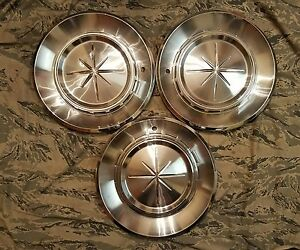 1960 60 Lincoln Continental Premier Hubcaps Wheel Covers Set Of 3 Oem Fomoco