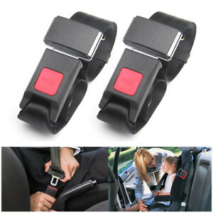 Universal Retractable 2 Point Auto Car Truck Seat Belt Lap Adjustable Safety
