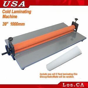 39in Manual Cold Laminating Photo Vinyl Film Laminator After Printing Machine