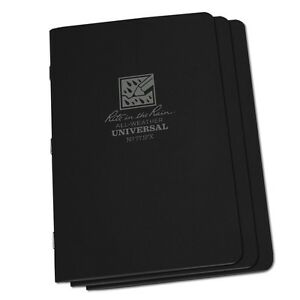 Rite In The Rain 771fx All weather Universal Stapled Notebooks Black