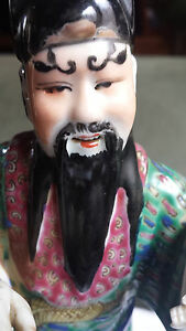 Chinese Porcelain Famille Rose Republic Period Immortal Figurine
