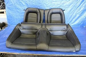 2015 15 Ford Mustang Ecoboost Oem Black Leather Rear Seats Assy 2 3l I4 1052