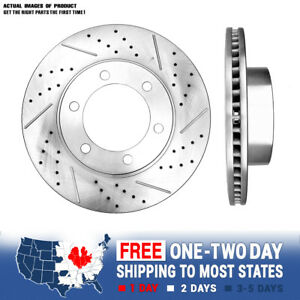 Front Brake Disc Rotors For 2001 2007 Toyota Sequoia 2000 2006 Toyota Tundra