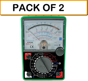 pack Of 2 Velleman Avm360 Analogue Multimeter special
