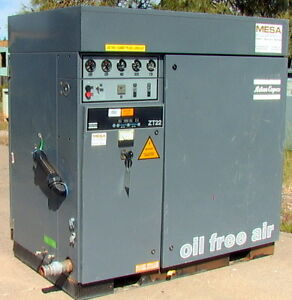 Atlas copco Zt22 22kw 30hp Oil free Rotary Tooth Compressor 125 Psi 150 Cfm