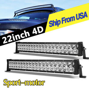 4x 9inch 160w Led Driving Work Light Black Round Offroad Roof Bumper Fog Lamp
