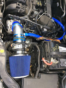 Blue Air Intake System Kit Filter For 2012 2014 Ford Focus 2 0l L4 Non turbo