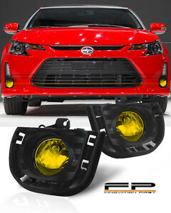 2014 2016 Scion Tc Yellow Lens Front Bumper Driving Fog Lights Full Complete Kit