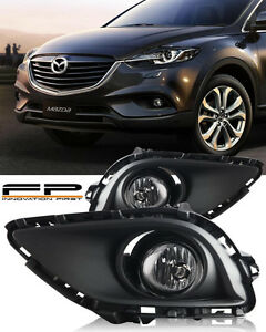 2013 2014 2015 Mazda Cx 9 Clear Bumper Fog Light Lamp Kit Include Wiring Harness