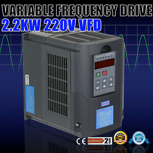 3hp Variable Frequency Drive Single Phase 220v 10a Close loop Newest