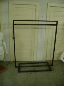 Urban Industrial Rustic Steel Metal Garment Display Clothing Rack