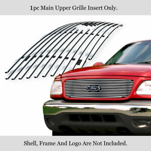 Fits 1999 2002 Ford Expedition Stainless Steel Main Upper Billet Grille