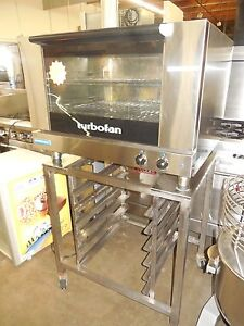 Used Moffat e27m2 32 Turbofan Electric Convection Oven W Stand 208 Volts
