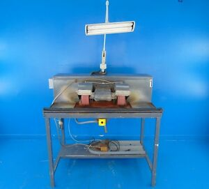 Wet dry Dual Belt Grinder sander W work Table
