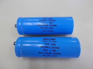 Mallory Capacitor Type Cgs Lot Of 2