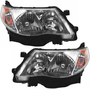 Hid Headlights Headlight Assembly W ballast Pair Set For 09 13 Subaru Forester